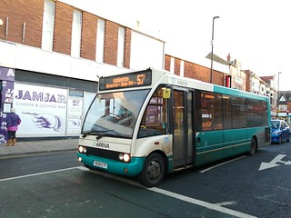 Arriva Northumbria 2813 at Whitley Bay between duties on the 57A and 57