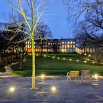 Illuminated Winckley Square in Preston
