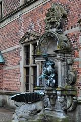 Cour intérieure, château de Frederiksborg (XVIe-XVIIe), Hillerød, Sélande, Danemark.