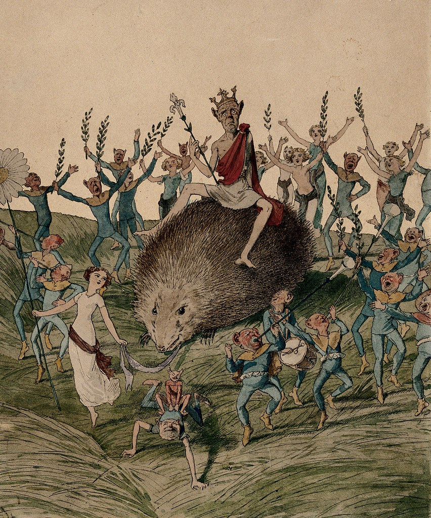 Charles Altamont Doyle - The seat of fairies is not always enviable.