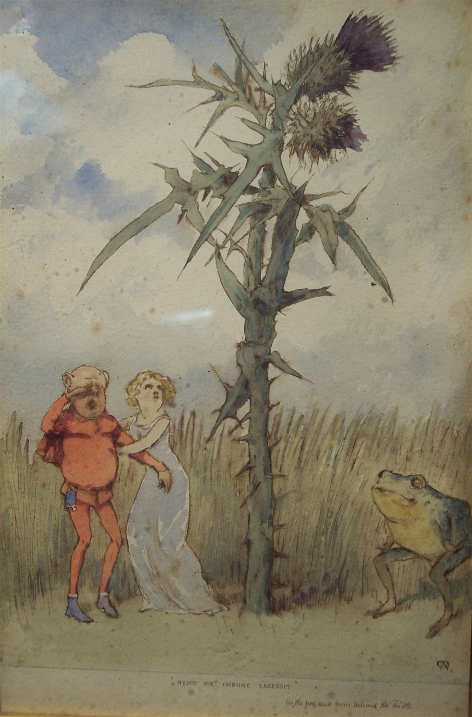 Charles Altamont Doyle - Nemo Me Impune Lacessit as the Frog Said Beyond the Thistle