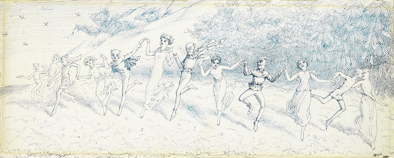Charles Altamont Doyle - Dancing Fairies, 1850