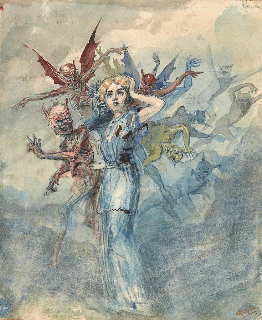 Charles Altamont Doyle - Temptation