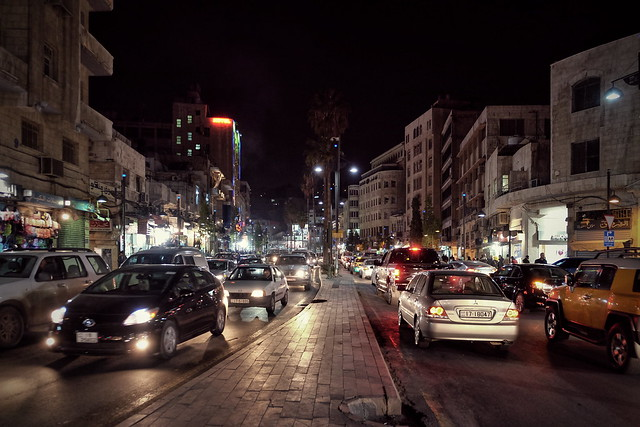 Night city. Amman, Jordan