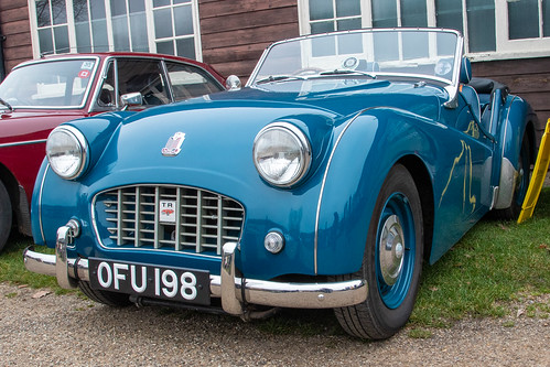 Brooklands New Year's Day Gathering 2020 - 1956 Triumph TR3 (OFU 198)