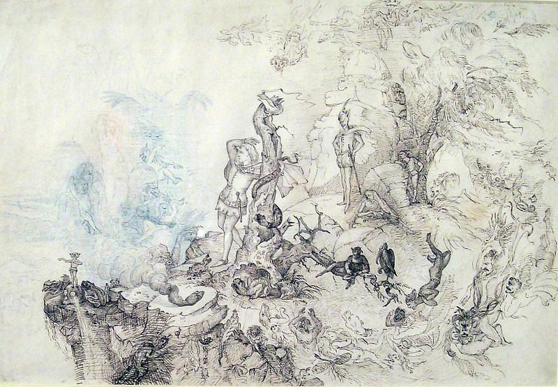 Charles Altamont Doyle - Illustration for Goethe's Faust, Walpurgisnacht
