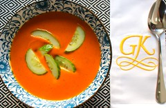 BOMBAY CARROT, COCONUT & GINGER SOUP WITH SALTED CUCUMBERS