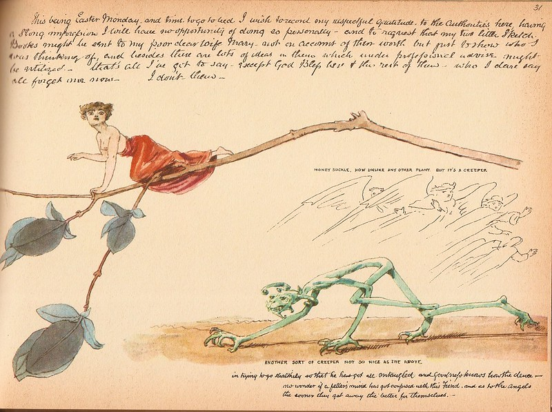 "Charles Altamont Doyle - Drawing from ""The Doyle Diary"" 1889 (3)"