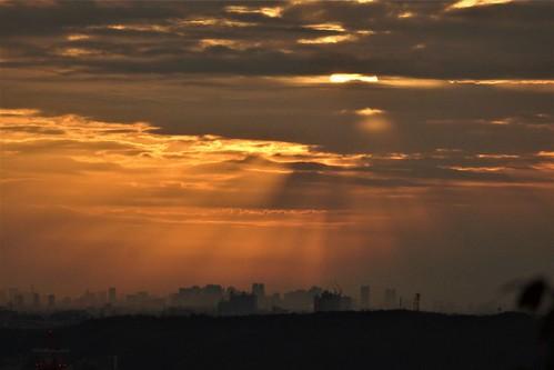 morning sunrise tokyo