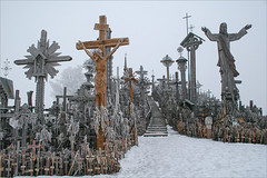Cold winter day in the Hill of Crosses