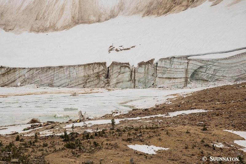 Jäätikön reuna, Mt Edith Cavell, Jasper