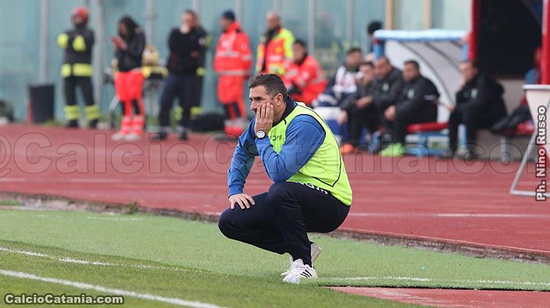 Il tecnico dei rossazzurri Cristiano Lucarelli