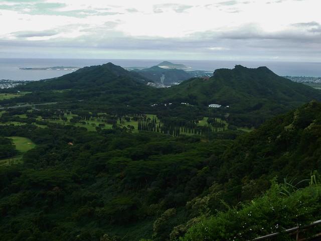 View from Nuuanu Pali Lookout, Oahu
