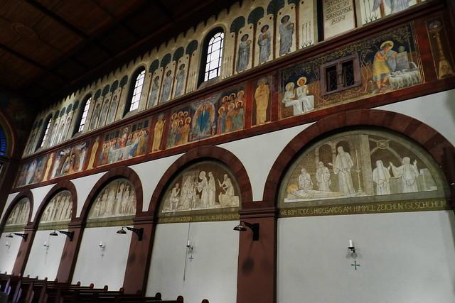pintura mural interior abadía de Santa Hildegarda en Windeck Eibingen Abbey Abtei St. Hildegard Rüdesheim Alemania 04