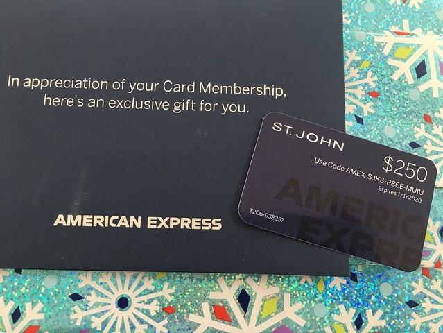 St. John gift card