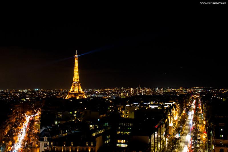 Parigi dall'alto dell'Arco di Trionfo