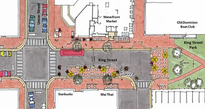 King Street Pedestrian Plaza Concept Plan: Rendering, Alexandria Virginia