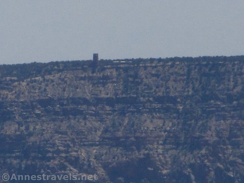 The Desert View Tower as seen from Point Imperial, Grand Canyon National Park, Arizona