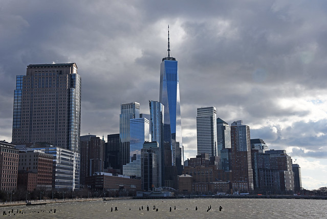 Picture Of The Lower West Side Manhattan Skyline Taken On A West Side Pier On The Hudson River Of A Cold Front Pushing Into Lowe Manhattan. Photo Taken January 19, 2020