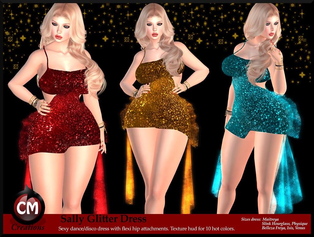 Sally Glitter Dress