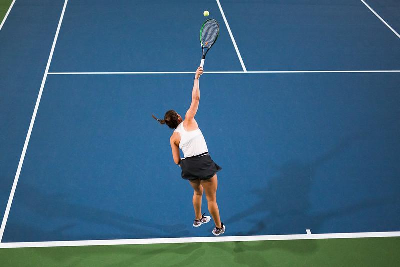 """Starptautiskās ITF pasaules tenisa tūres sacensības sievietēm """"Liepaja Open"""" 3.diena. Foto: Mārtiņš Vējš / 3rd day of ITF Women's World Tennis Tour """"Liepaja Open"""". Photo: Mārtiņš Vējš"""