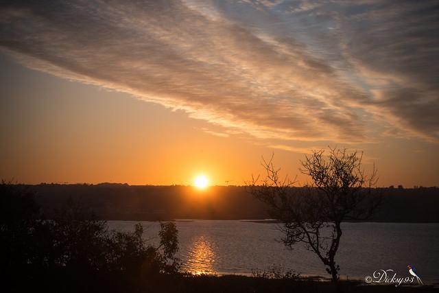 Coucher de soleil en baie de Saint-Brieuc