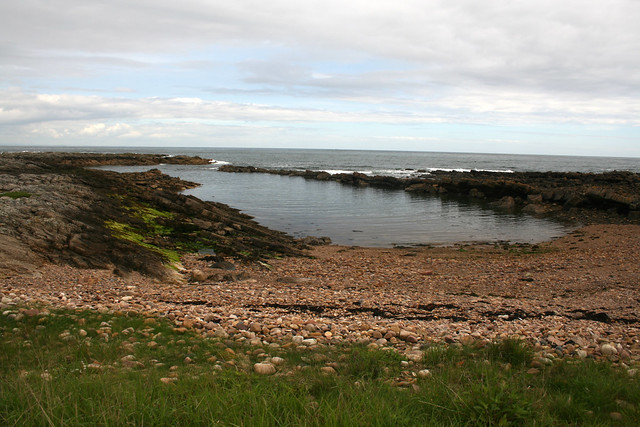 Remains of Fife Ness Harbour