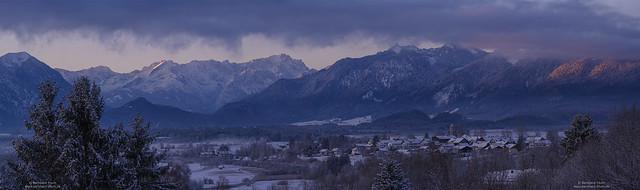 Winter morning at Loisachtal
