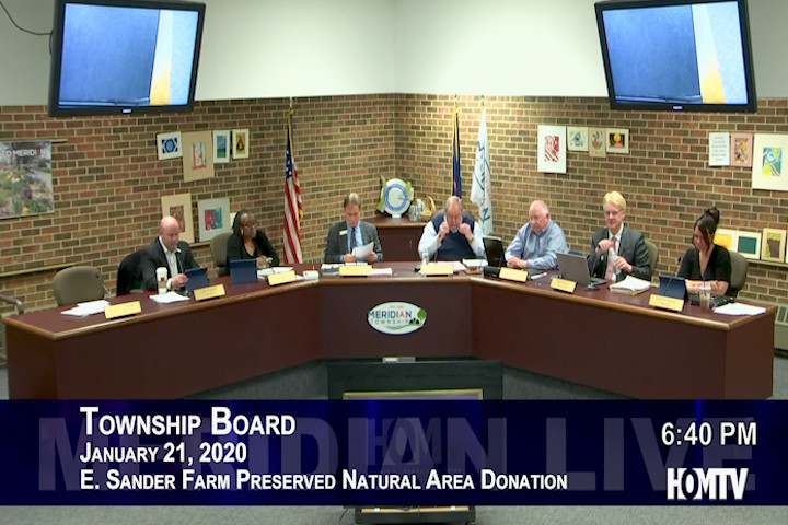Township Board Discusses Donation of Sander Farm Natural Area