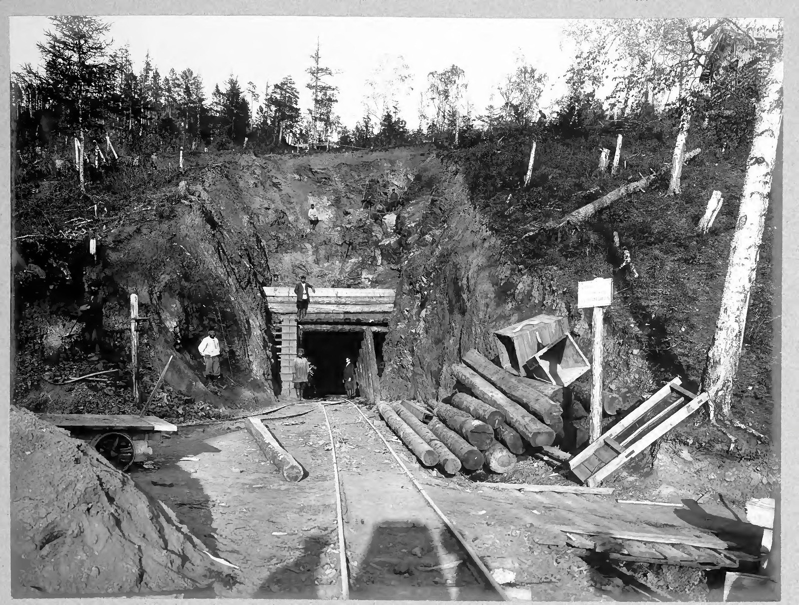 21. Нижний ход половинного тоннеля на 36 версте.