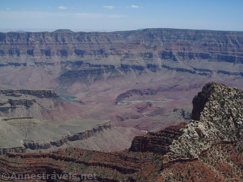 The Colorado River as seen from the Angels Window Viewpoint, Grand Canyon National Park, Arizona
