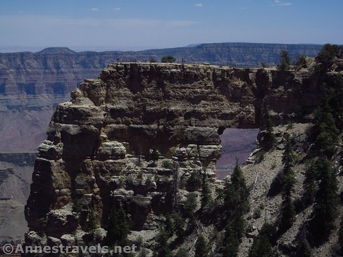 The outcrop of rock with the Angels Window, Grand Canyon National Park, Arizona