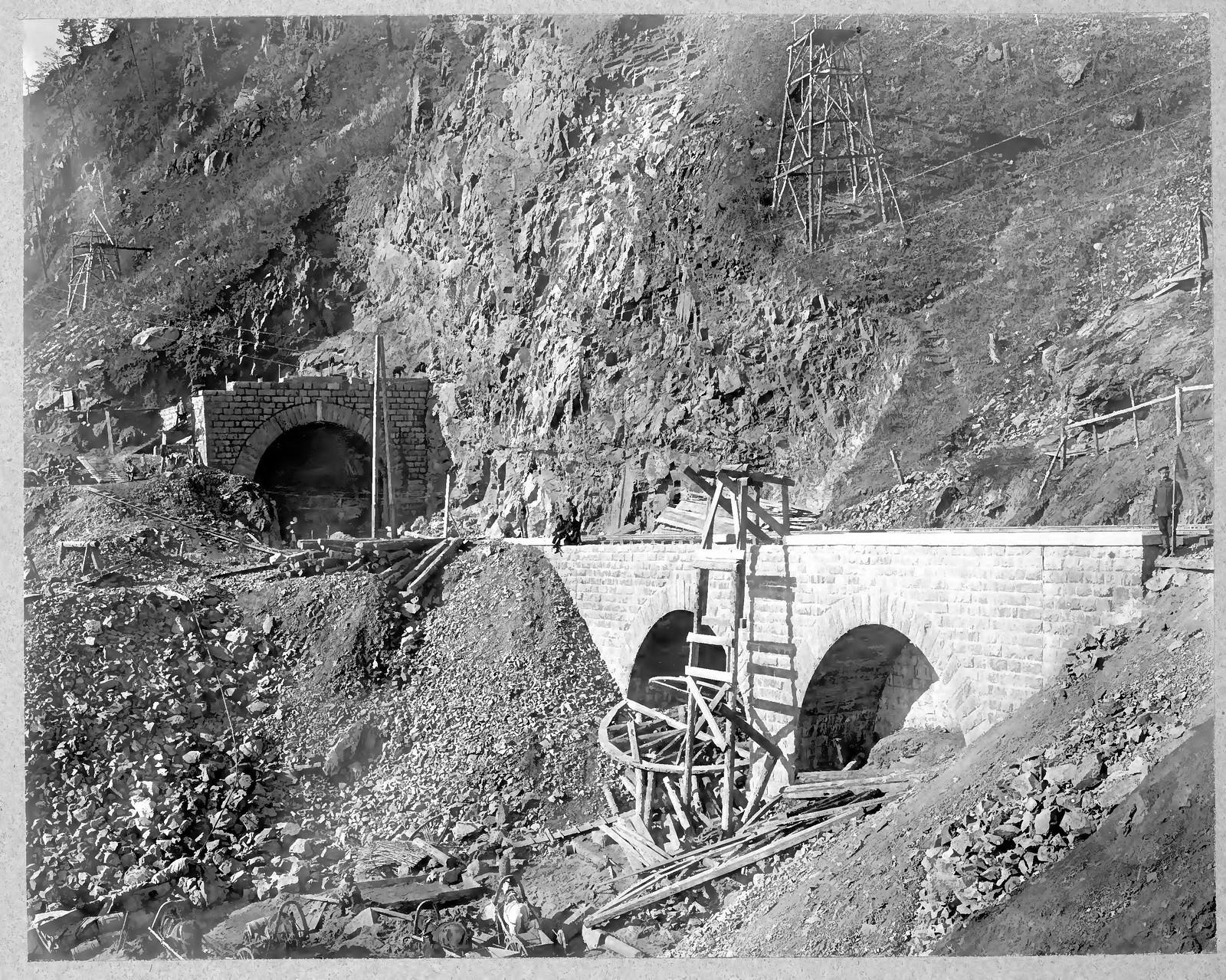 30. Строительство виадука и туннеля