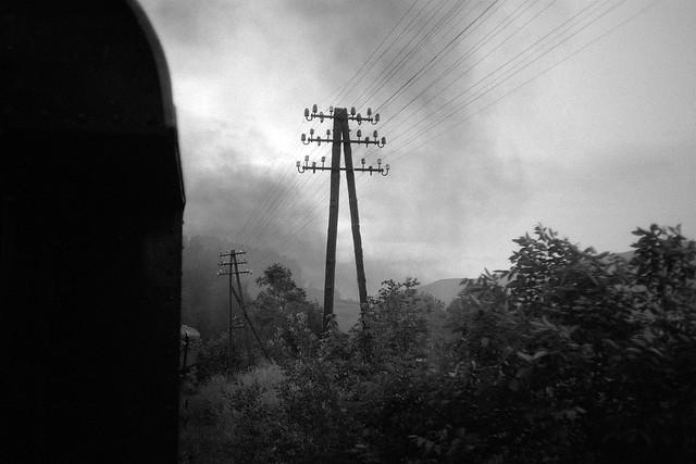 Riding on steam train