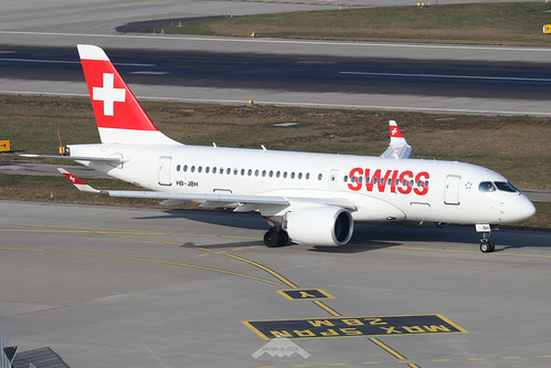 HB-JBH  -  Bombardier CS Series 100  -  Swiss International Airlines  -  ZRH/LSZH 21-1-20 | by Plane Martin
