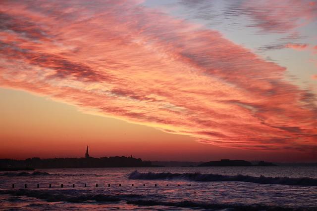 coucher de soleil flamboyant