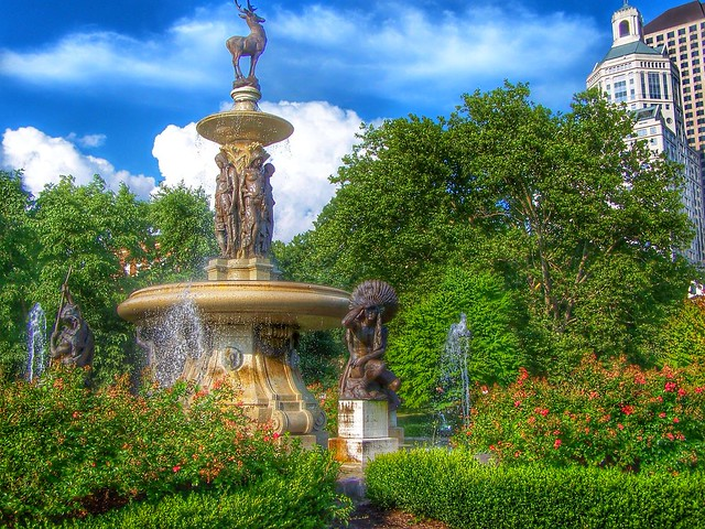 Hartford  New York ~ Connecticut ~ Corning Fountain - HIstoric