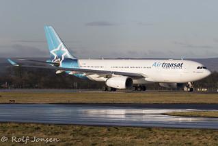 C-GUBL Airbus A330-200 Air Transat Glasgow airport EGPF 09.01-20