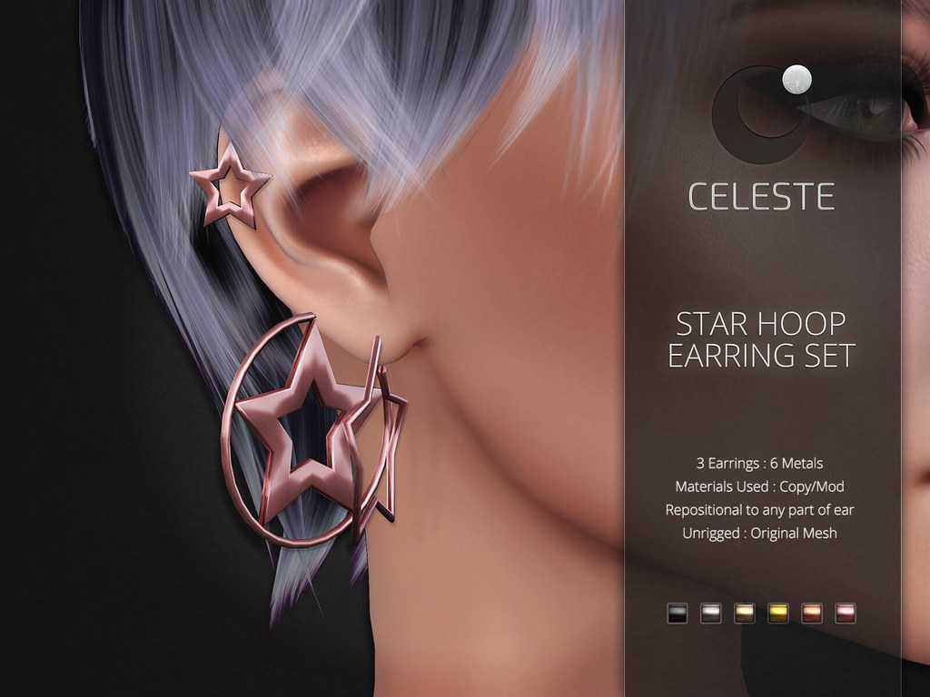 Celeste – Star Hoop Earring Set
