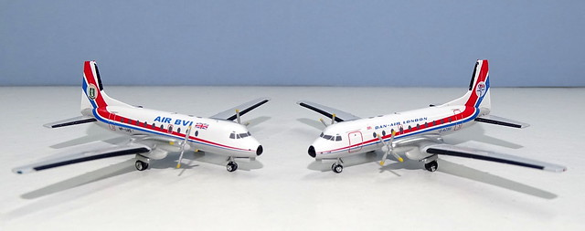 Air BVI and Dan Air HS748s