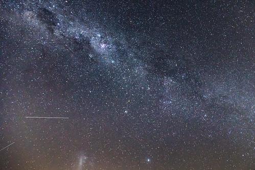 Milky Way in a slight hazy summer sky
