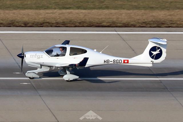 HB-SGD  -  Diamond DA40NG Diamond Star  -  Motorfluggruppe Zurich  -  ZRH/LSZH 21-1-20