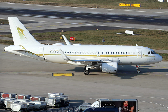 HZ-SKY4  -  Airbus A319-115CJ  -  Sky Prime  -  ZRH/LSZH 21-1-20