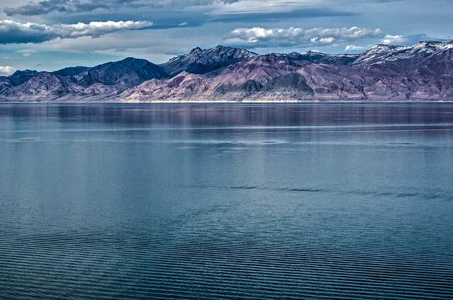 Pyramid Lake, Nevada toward the Lake Range