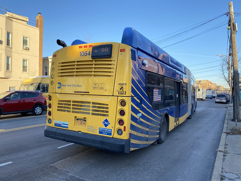 2018 New Flyer XN60 1064 - Bx39 To Wakefield-241 St