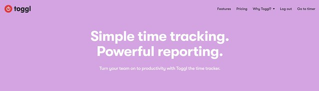 Time logging using toggl