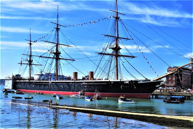 HMS Warrior,  English Warship from 19th Century.