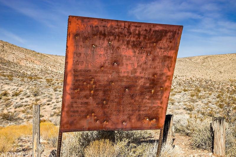 Muddy Mountains Wilderness Trailhead Sign