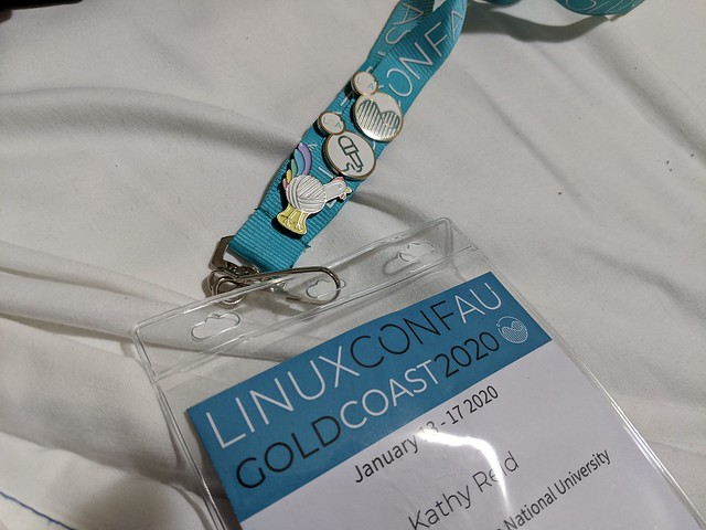 Badge from linux.conf.au 2020