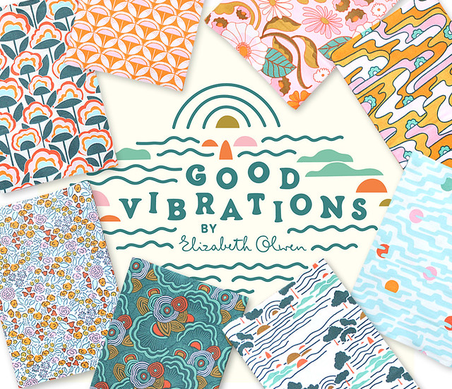 Cloud9 Fabrics Good Vibrations Collection by Elizabeth Olwen